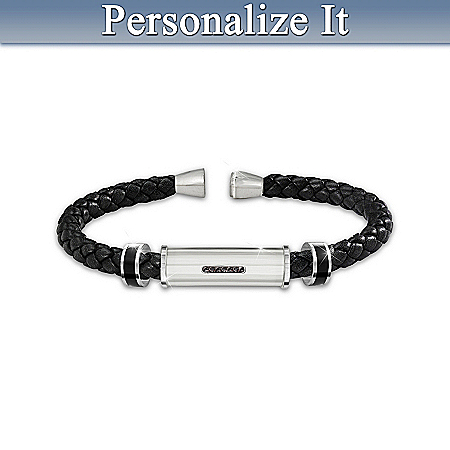 Bracelet: Personal Statement Personalized Men's Braided Bracelet – Personalized Jewelry