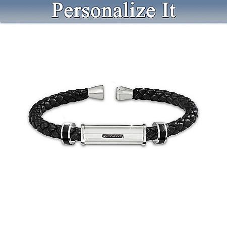 Bracelet: Personal Statement Personalized Men's Braided Bracelet – Personalized Jewelry