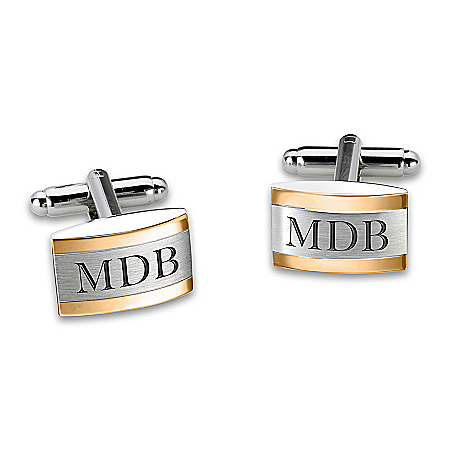 Esquire Personalized Stainless Steel Cuff Links – Personalized Jewelry