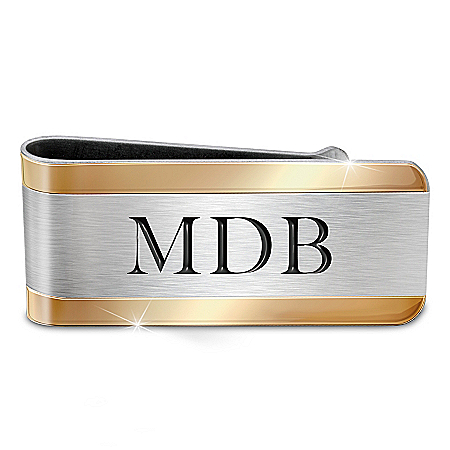 Esquire Personalized Stainless Steel Money Clip – Personalized Jewelry