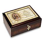 Music Box: The Lord's Prayer Heirloom Head Of Christ Warner Sallman Music Box