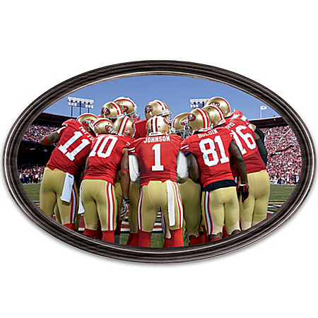 Wall Decor: Going The Distance 49ers Personalized Stadium Edition Wall Decor