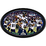 Seattle Seahawks Super Bowl XLVIII Champions Oval Collector Plate
