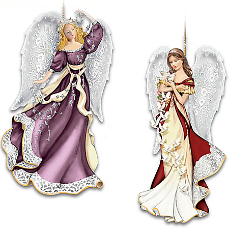 Thomas Kinkade Heaven Sent Angels Ornament Collection: Set One