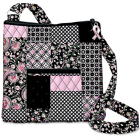 Hope Connects Us All Handbag Quilted Bag With Paisley, Geometric And Floral Pattern