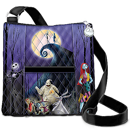 Tim Burton's The Nightmare Before Christmas Quilted Crossbody Handbag