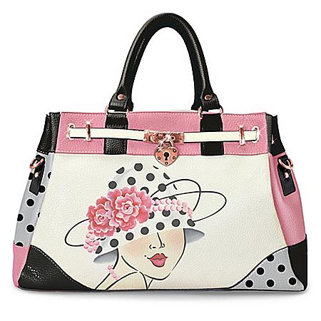 Vintage Glamour Satchel Handbag With Adjustable Strap And Susan Pisoni's