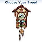 Cuckoo Clock - Playful Pups Choose Your Dog Breed Cuckoo Clock