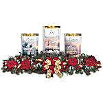 Thomas Kinkade Light Of The Season Holiday Table Centerpiece