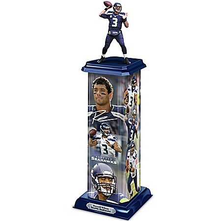 NFL-Licensed Legend In Action Sculpture With Seattle Seahawks Quarterback Russell Wilson