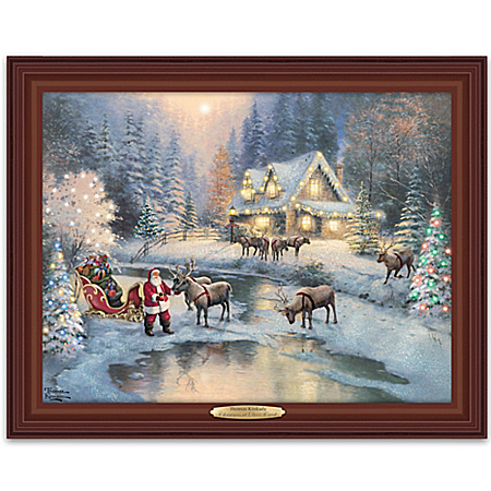 Thomas Kinkade Christmas At Deer Creek Canvas Print Light Up Wall Decor