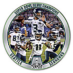 Limited Edition Porcelain Super Bowl XLVIII Champions Seattle Seahawks Collector Plate