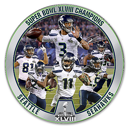 Collector Plate: Limited Edition Porcelain Super Bowl XLVIII Champions Seattle Seahawks Collector Plate 120488001