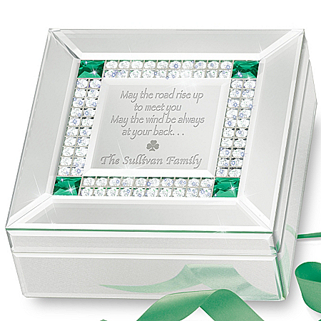 Music Box: Irish Blessing Personalized Mirrored Music Box