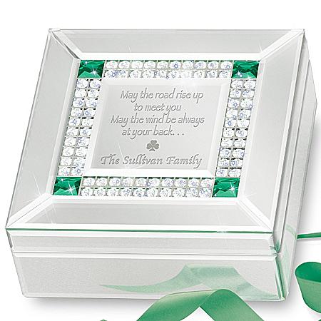 Music Box: Irish Blessing Personalized Mirrored Music Box