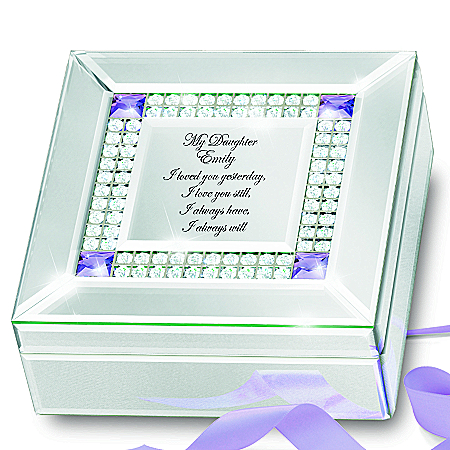 Music Box: My Daughter I Love You Always Personalized Birthstone Music Box