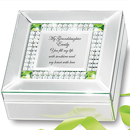 Music Box: Granddaughter, You Fill My Heart With Love Personalized Birthstone Music Box