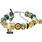 Fashionable Fan Officially Licensed Green Bay Packers Charm Bracelet