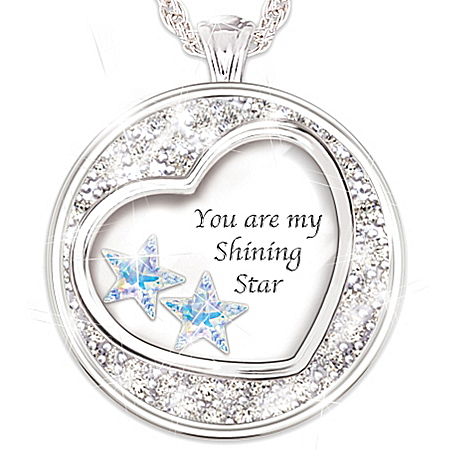 My Shining Star Granddaughter Crystal Pendant Necklace