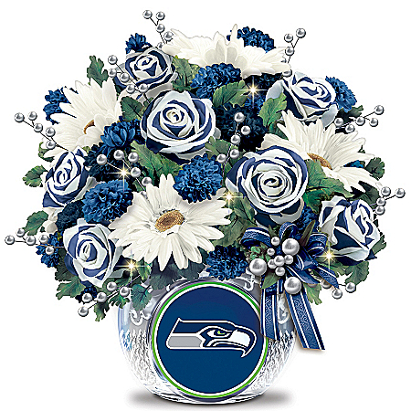 Table Centerpiece: Seattle Seahawks Blooming With Pride Table Centerpiece