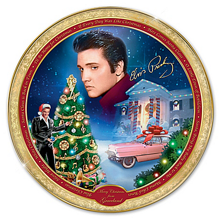 Elvis Plates Merry Christmas From Graceland Elvis Presley Collector Plate
