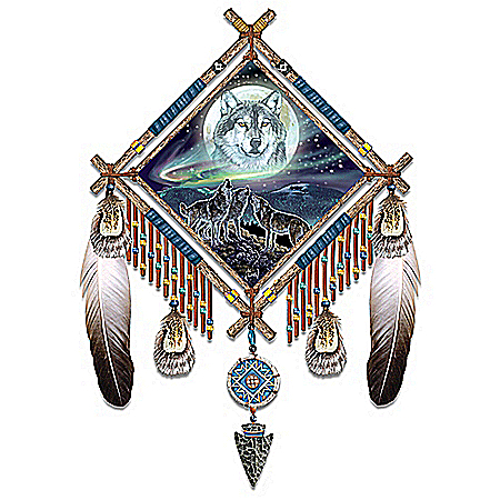 Summoning The Pack Native American-Inspired Wall Decor Dreamcatcher