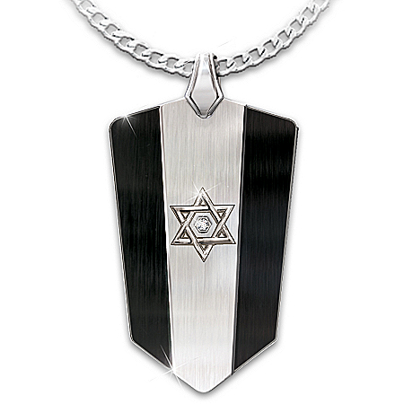 Star Of David Personalized Diamond Men's Pendant Necklace – Personalized Jewelry