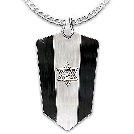 Star Of David Personalized Diamond Men's Pendant Necklace – Personalized Jewelry