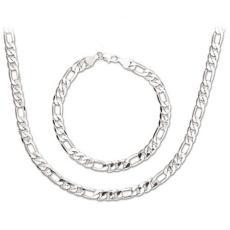 The Connoisseur Men's Chain Necklace And Bracelet Set