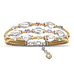 The Strength Of Family Personalized Name-Engraved And Birthstone Cable Bracelet