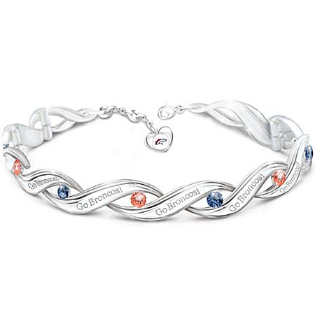 NFL-Licensed Denver Broncos Pride Women's Designer Bracelet