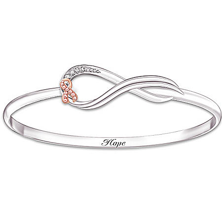 Breast Cancer Awareness Infinite Hope Women's Crystal Bracelet