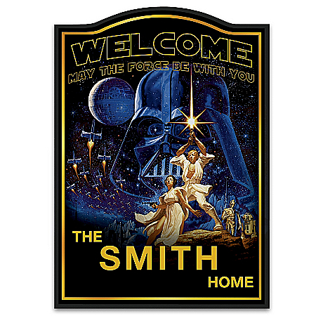 Welcome Sign: Star Wars Personalized Welcome Sign