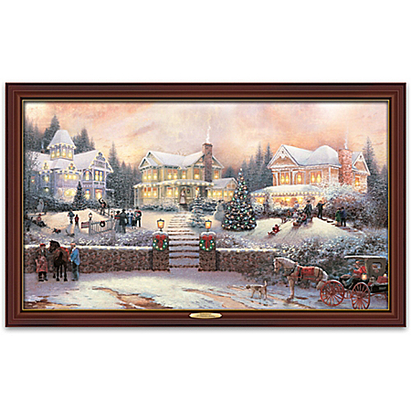 Thomas Kinkade A Victorian Holiday Wall Decor Canvas Print