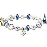 MLB-Licensed Go Kansas City Royals! #1 Fan Women's Sterling Silver Plated Charm Bracelet