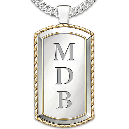 Necklace: Graduation Personalized Men's Pendant Necklace