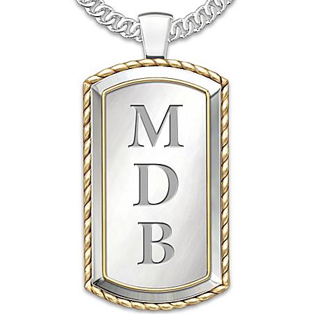 Graduation Personalized Men's Pendant Necklace