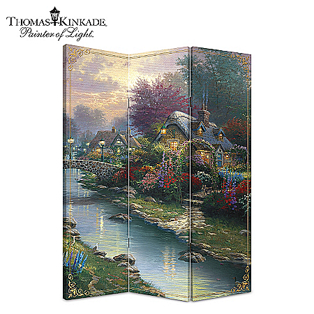 Home Decor Collectibles Thomas Kinkade Lamplight Bridge Home Decor
