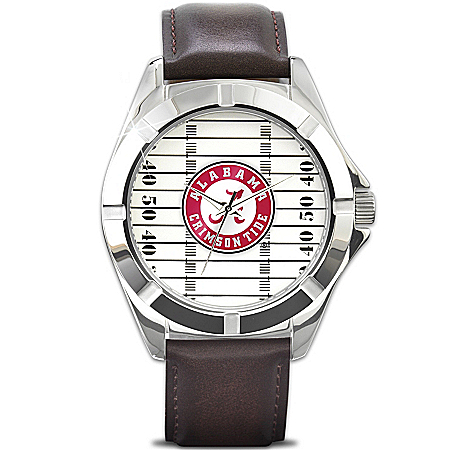 Watch: Go Crimson Tide - University Of Alabama Men's Watch