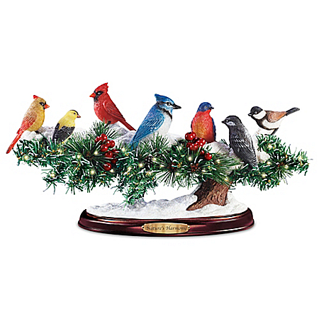 Nature's Harmony LED Lighted Musical Songbirds Sculpture