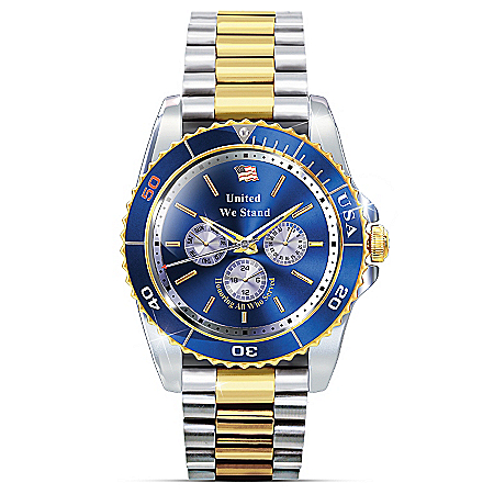 Pride And Brotherhood Stainless Steel Men's Watch Honors Veterans