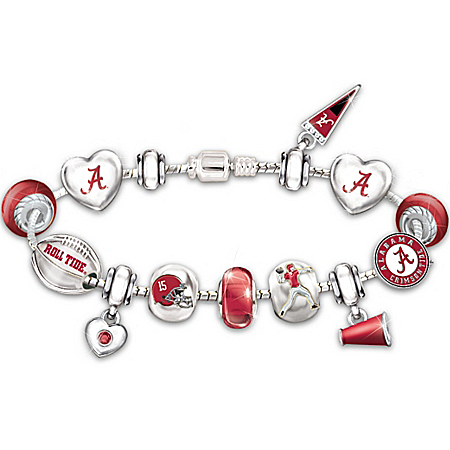 Bracelet: Go Alabama Crimson Tide! #1 Fan Charm Bracelet