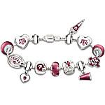 Bracelet - Go Texas A&M Aggies! #1 Fan Charm Bracelet