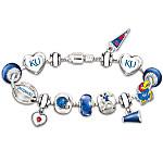 Bracelet - Go Kansas Jayhawks! #1 Fan Charm Bracelet