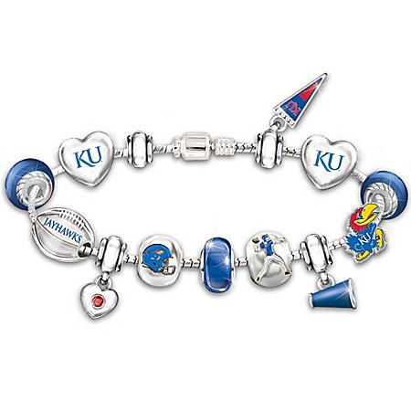 Bracelet: Go Kansas Jayhawks! #1 Fan Charm Bracelet