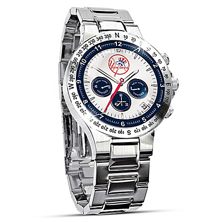 New York Yankees Collector's Stainless Steel Men's Watch