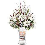 Thomas Kinkade Victorian Christmas Always In Bloom Table Centerpiece