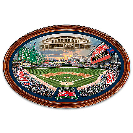 Plate: Chicago Cubs Wrigley Field 100-Year Anniversary Framed Collector Plate