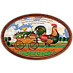 Plate: Charles Wysocki Country Charm Personalized Framed Collector Plate