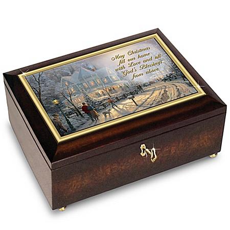Music Box: Thomas Kinkade A Holiday Gathering Music Box